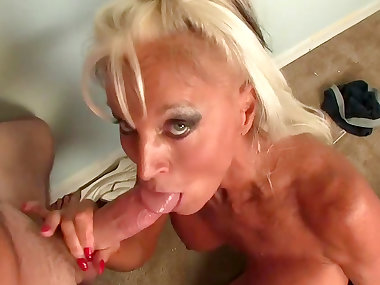 Busty mature amazes in POV oral