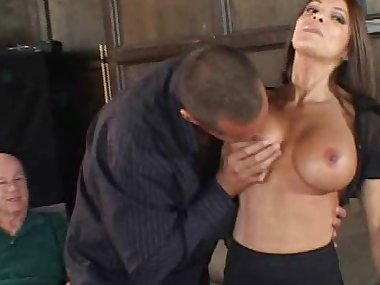 Sexy mom is getting cock in her mouth