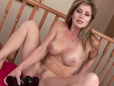 MILF Felony shows her nice dildos