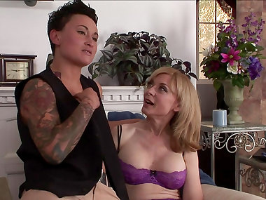 Nina Hartley fucks with inked Syd Blakovich A