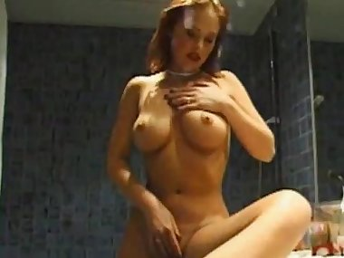 Redhead busty mom and two hard poles