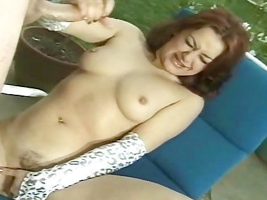 Mom with red hair is getting cum