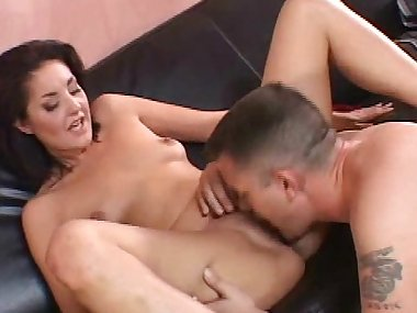 Small-tit mom is giving a deep blowjob