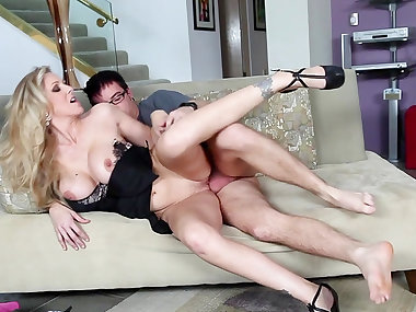 Julia Ann was fucked by cocky man Dane Cross