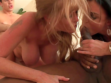 Sensual girls are banging with big black dicks