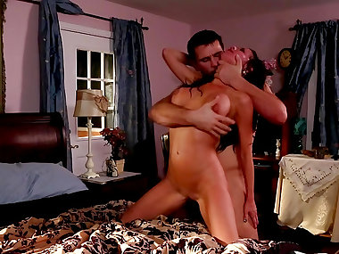 Busty brunette Veronica Avluv is being fucked by..