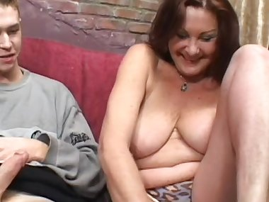Anastasia Sands suck dick of a young Lewis Adams