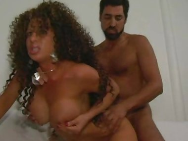 Busty tramp with fuzzy hair gets banged in the..