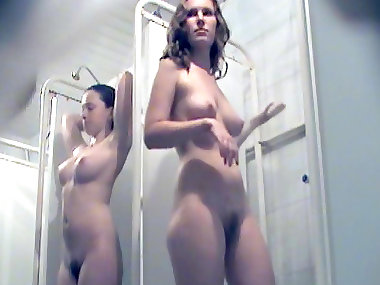 Public shower with nice voyeur moments