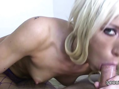 Sexy Mom Helps With Blowjob in Pov to Cum