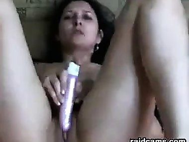 Dirty Mom With A Toy Masturbates