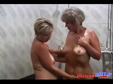 Russian moms Irina Valia in the sauna
