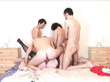 NastyPlace.org - Russian mom - gangbang