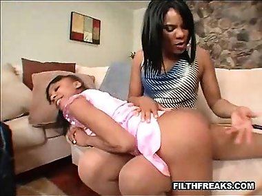 ebony mother daughter anal