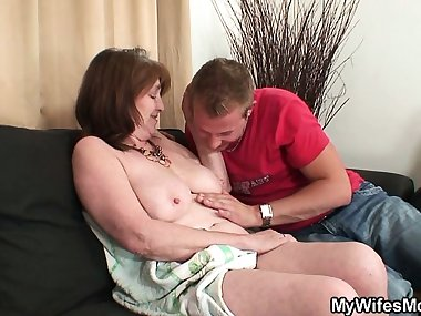 He takes his wife\'s old mom
