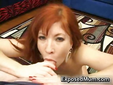 Naughty mom jerking on a hard cock part5