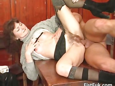 Lusty blonde mom in stockings is fucked part3