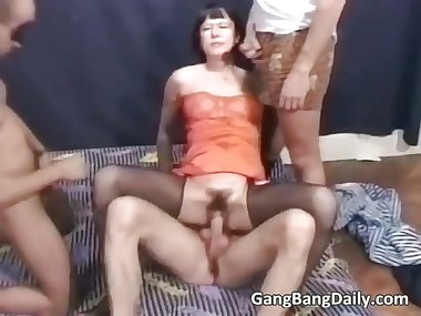 Naughty mom gets involved in great gang part3