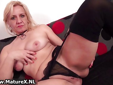 Horny blond experienced mom is touching part4