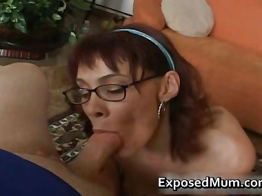 Redhead mom licking balls and deepthroat part2