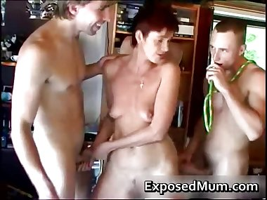 Mom spanked and fucked part3