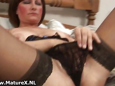Horny old mom spreads her legs part5