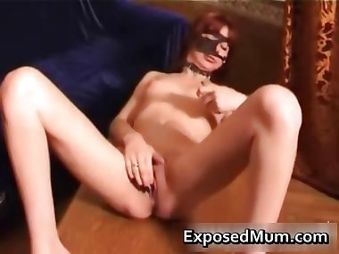 Asty mom plugs on her kinky dildo part4
