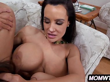 Step-Son bangs his Gf and Stepmom Lisa Ann & Ava..
