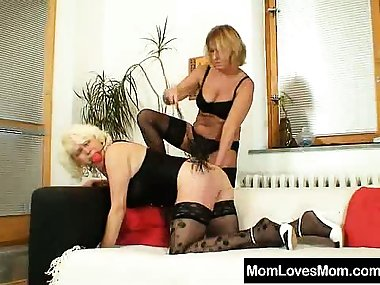 Old granny humiliated by kinky domina amateur-mom