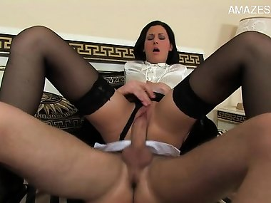 Italian mom and son anal pain