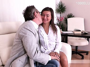 Italian mom and son titfuck cumshot