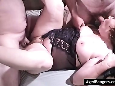 Mom getting fucked in all her holes