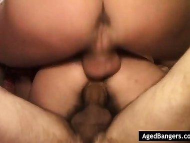 Hairy mom having her asshole plowed deep
