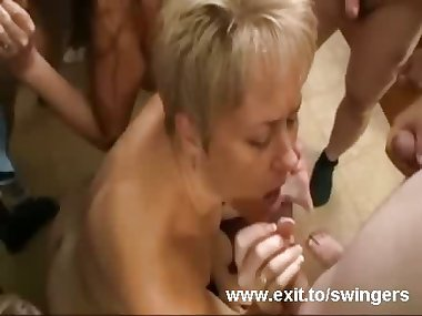 Gangbang Swinger party with Moms Tracey and Dee