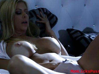 Mia seduces her new stepmom exposing her perfect..