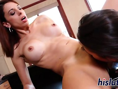 Naughty mom fucks a hot young bimbo