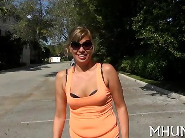 blonde cougar gets to be caressed and fucked so..