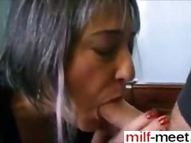 French mature getting spoon fucked right in her sweet ass