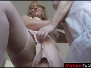 Blonde matures playing with their pussies on..