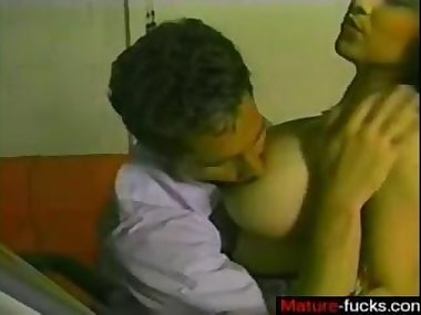 Big tits brunette from the 80s gets fucked after..
