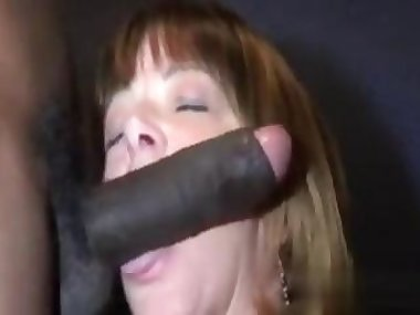 black prick has a slut to gobble it up