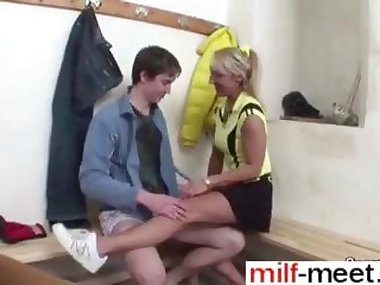 Teen student banging out his teacher with a diamond hard dick