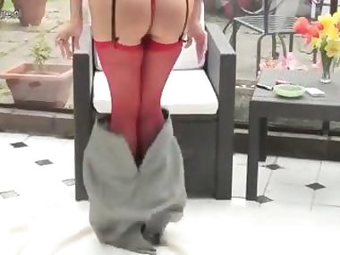slutty Asian slut has a tease session