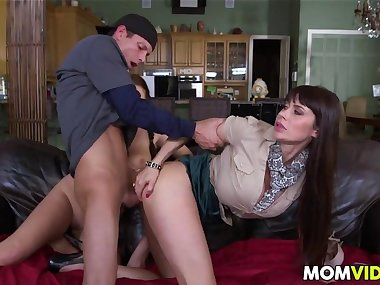 stepmom eva karera catches holly hudson getting fucked clip