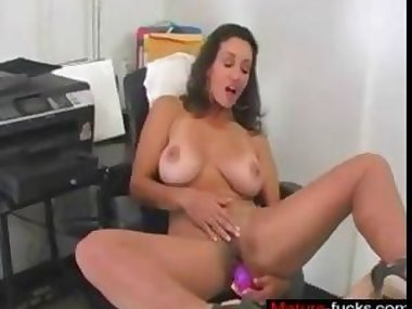 sexy ass babe has a toy she uses politely