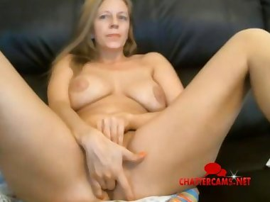 Blonde MILF Does Live Orgasmathon
