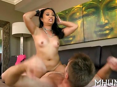 horny milf jumps on a thick rod clip