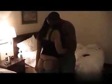 Black man is fucking her cheating ass in a motel