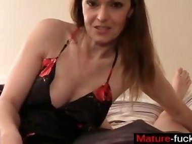 busty brunette is a hot wife acting all naughty