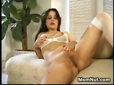 Lonely MILF Enjoying Her Thick Dildo